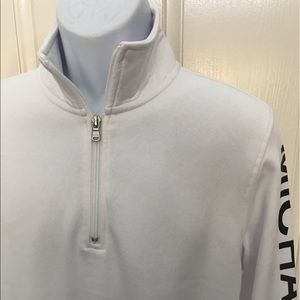 NEW wTag-MICHAEL KORS 1/4 Zip White Pullover M